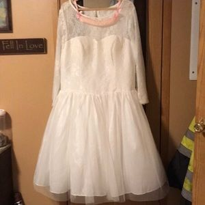 NWT little white dress for wedding or reception